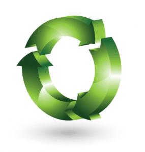 3d recycling logo vector