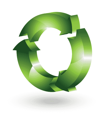 3d recycling logo vector