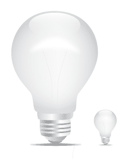 free 3d lighbulb vector