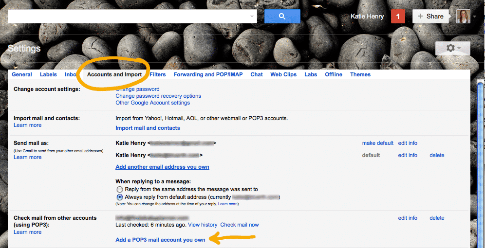 how to add email address to gmail