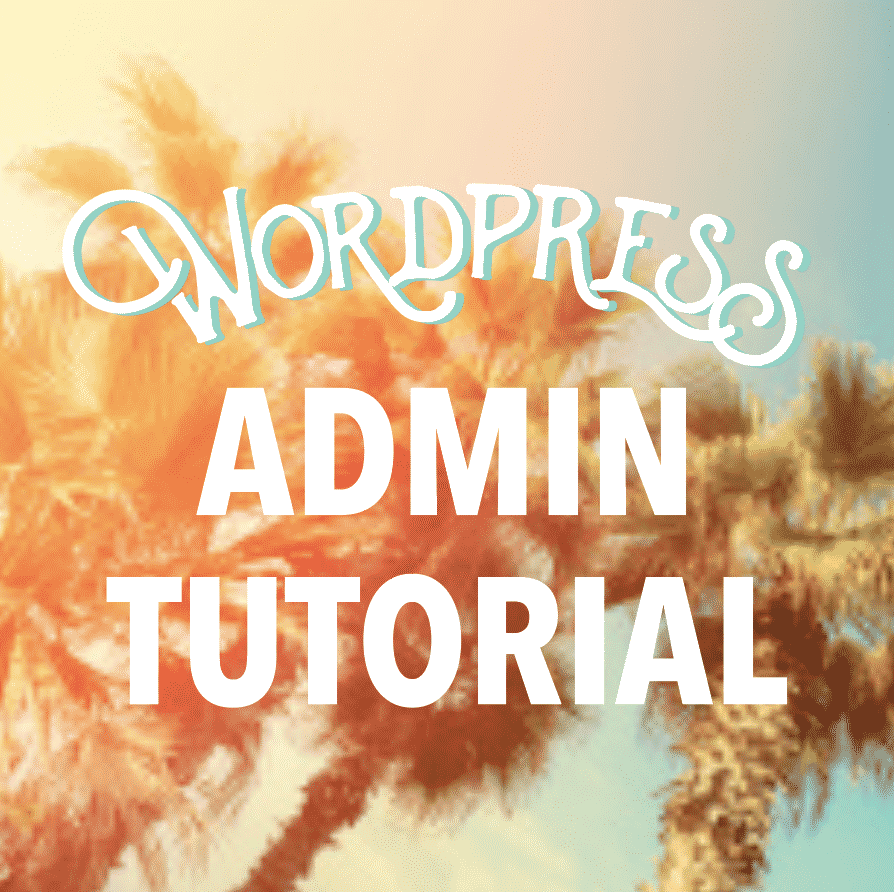 Wordpress admin tutorial